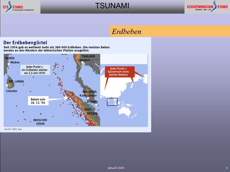 TSUNAMI aktuell 20055 Erdbeben