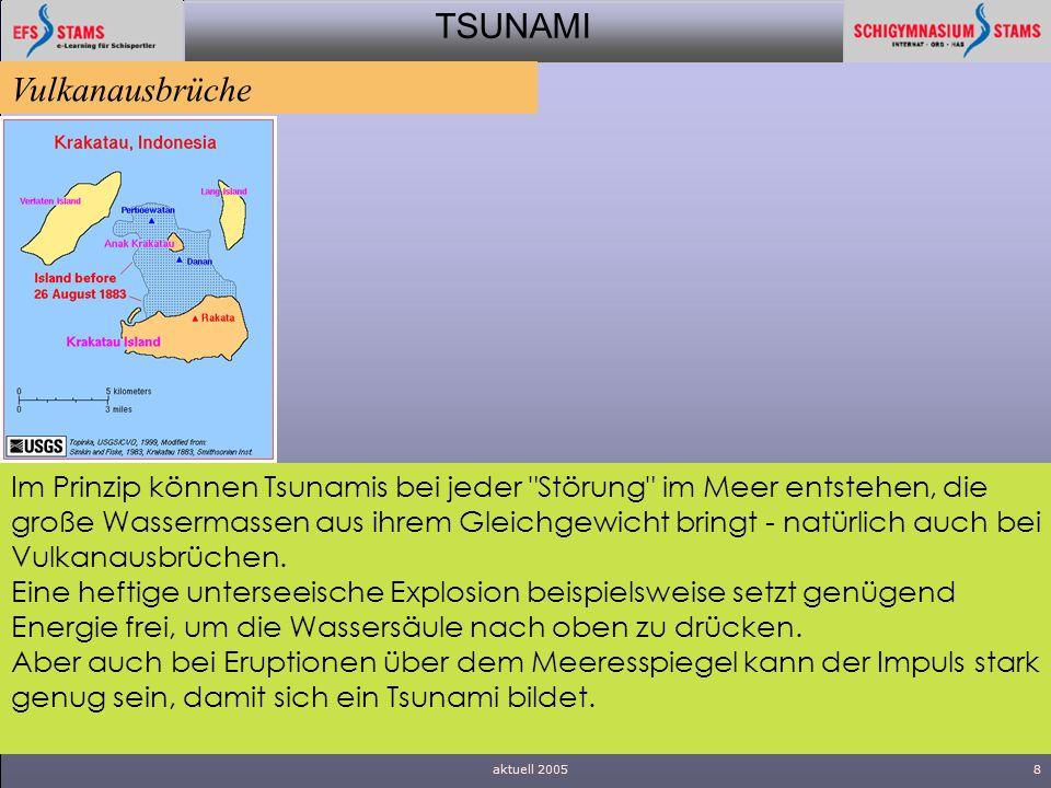 TSUNAMI aktuell 20058 Im Prinzip können Tsunamis bei jeder