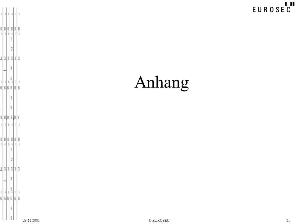 23.11.2005© EUROSEC25 Anhang