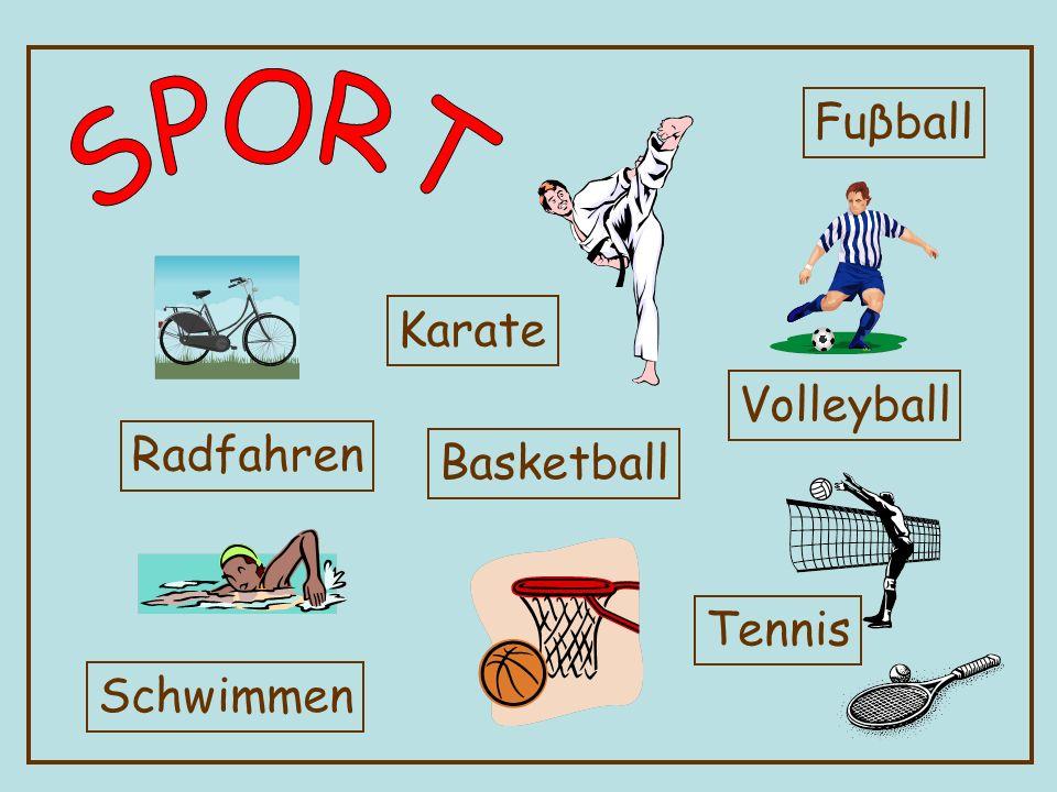 Radfahren Schwimmen Karate Basketball Fuβball Tennis Volleyball