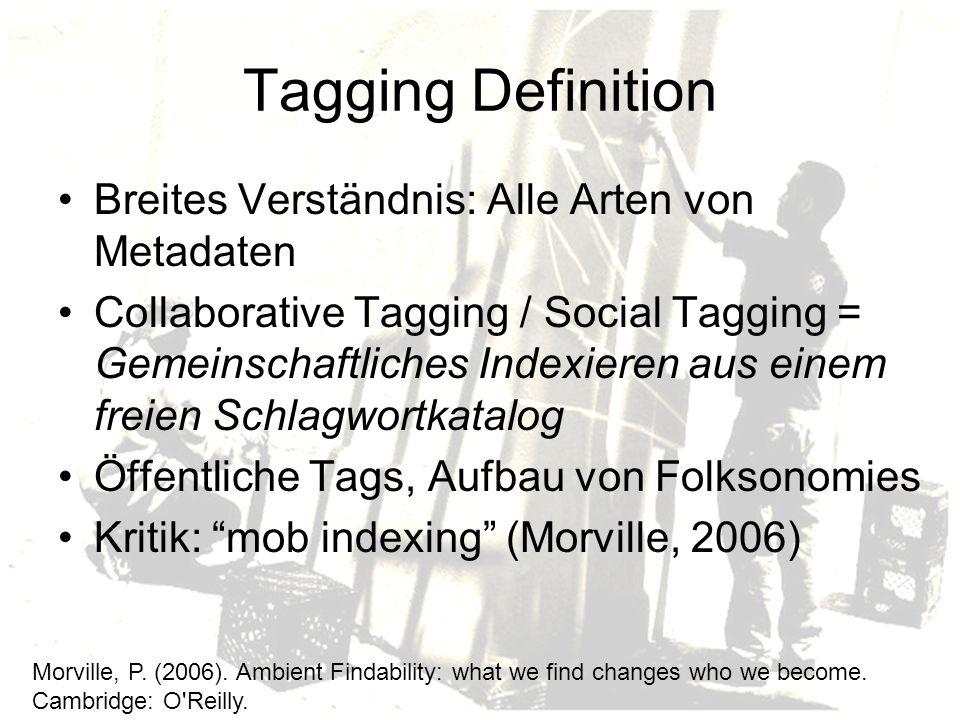 Web-Campaigning Politischer Aktivismus als Motiv: Tagging als Instrument des Web-Campaigning (Zollers, 2007).