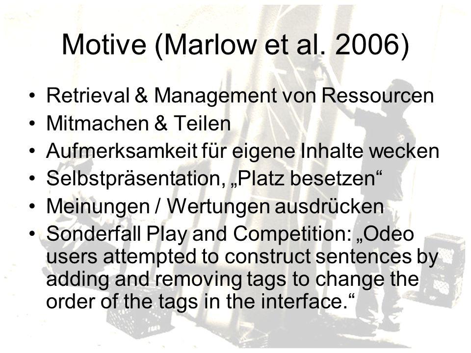 Motive (Marlow et al.