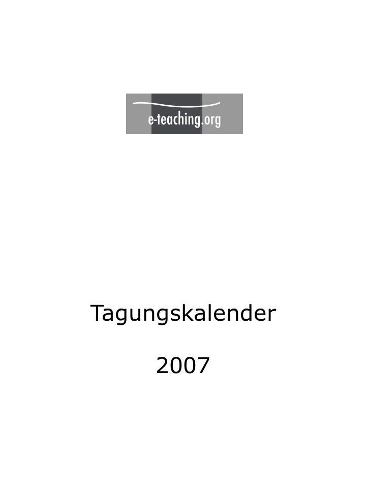 Tagungskalender 2007