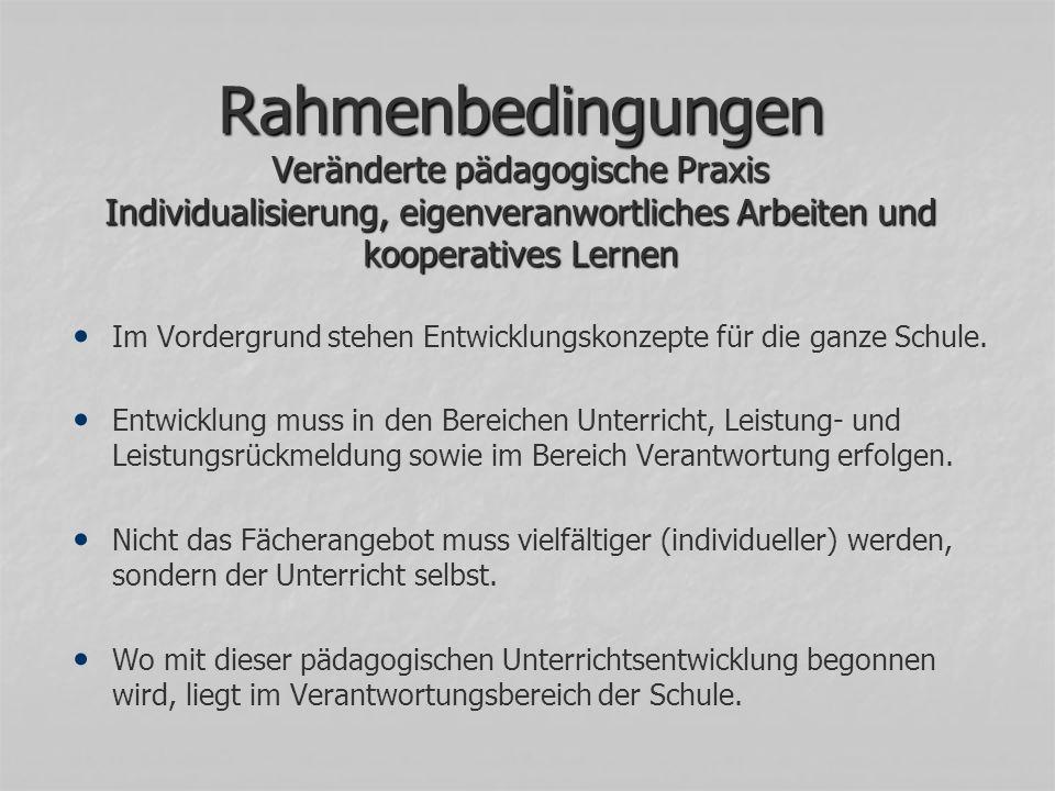 Rahmenbedingungen Zusammenarbeit mit den AHS Vlbg.
