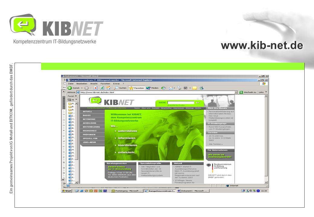 Ein gemeinsames Projekt von IG Metall und BITKOM, gefördert durch das BMBF. RUBRIK: IT- Ausbildung
