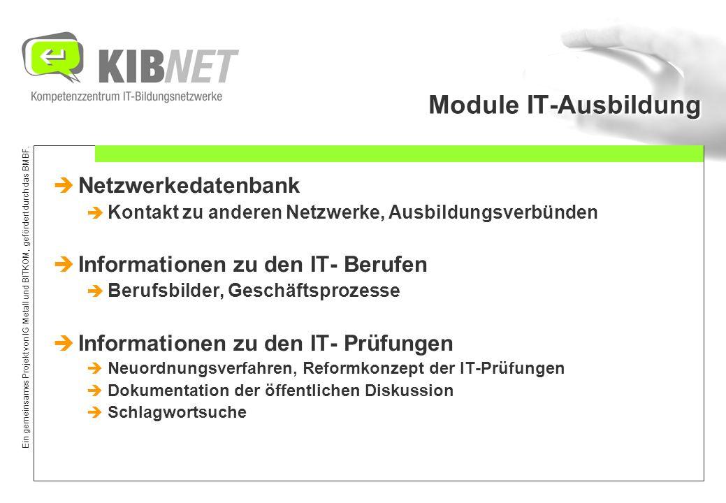 Ein gemeinsames Projekt von IG Metall und BITKOM, gefördert durch das BMBF. IT-Prüfungen