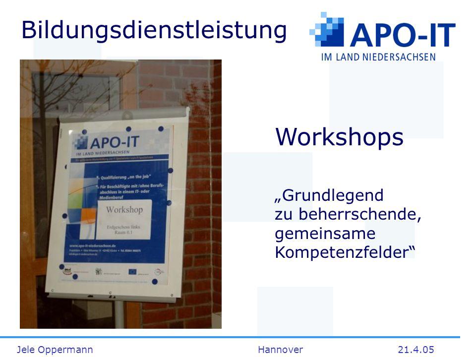 Julia Werner, Michael Gottschalk Hannover21.4.05 Projektbüro APO-IT-Niedersachsen Klein Witzeetze 14 29482 Küsten Fon 05864 986875 Fax 05864 987021 http://apo-it-niedersachsen.de