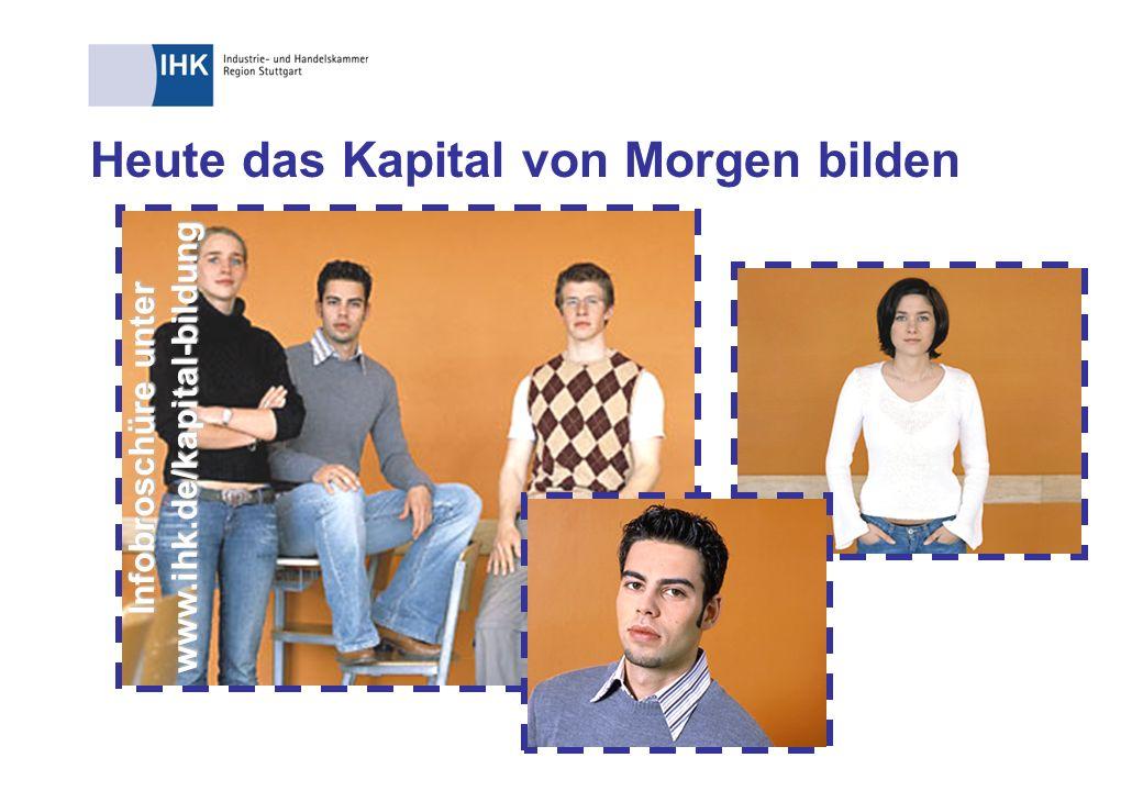 Heute das Kapital von Morgen bilden Infobroschüre unter www.ihk.de/kapital-bildung