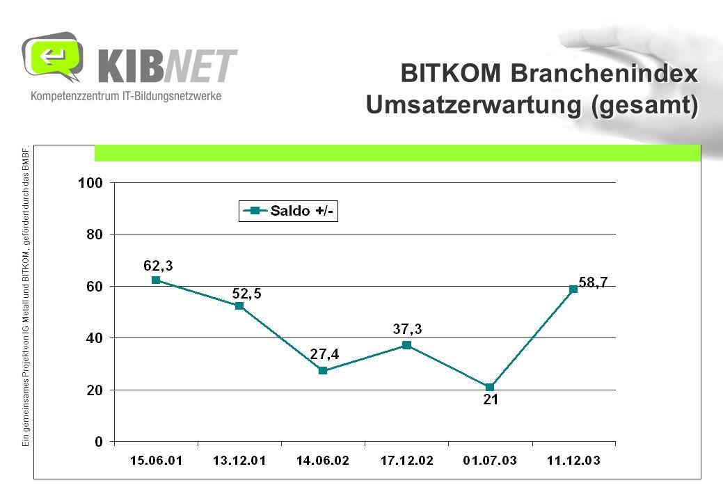 Ein gemeinsames Projekt von IG Metall und BITKOM, gefördert durch das BMBF. BITKOM Branchenindex Umsatzerwartung (gesamt)