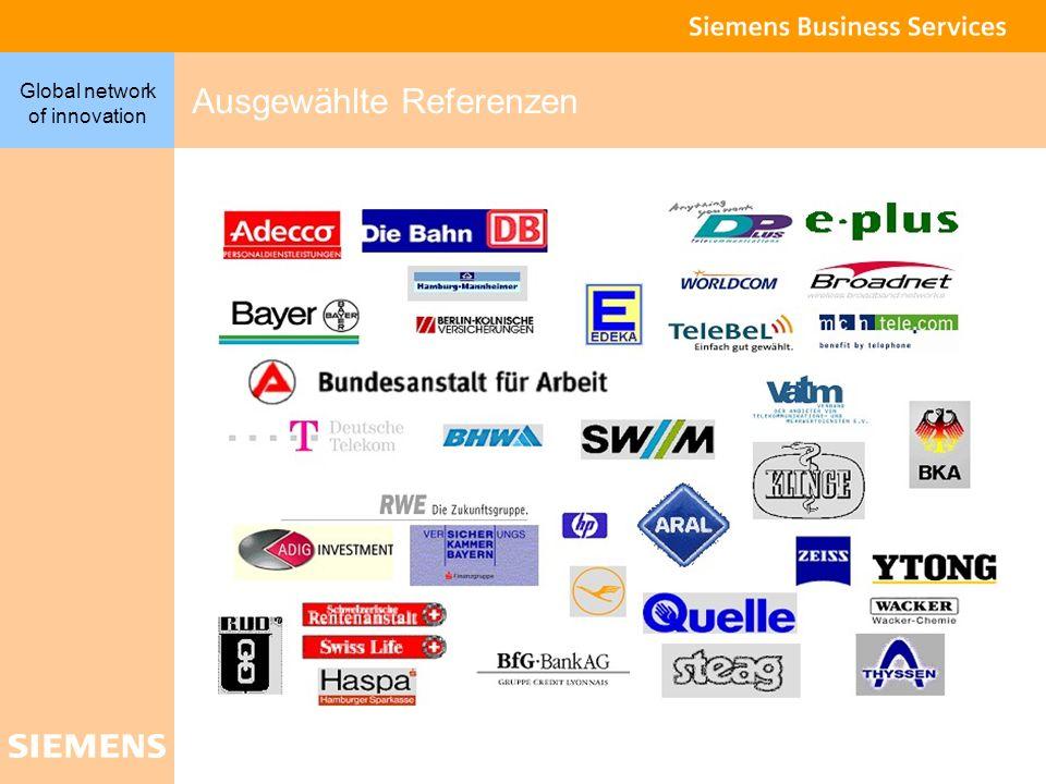 9 Global network of innovation Ausgewählte Referenzen