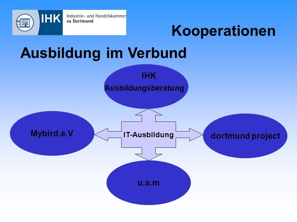 Kooperationen Ausbildung im Verbund Mybird.e.V IT-Ausbildung dortmund project u.a.m Ausbildungsberatung IHK