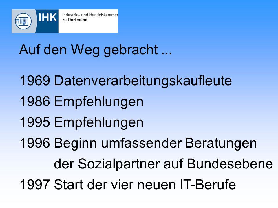 Überblick IT-Berufe IT-System- ElektronikerIn IT-System- Kaufmann/-frau Informatik- Kaufmann/-frau FachinformatikerIn mit den Fachrichtungen Anwendungs- entwicklung System- integration Kernqualifikation Anbieter-BerufeAnwender-Beruf 1.