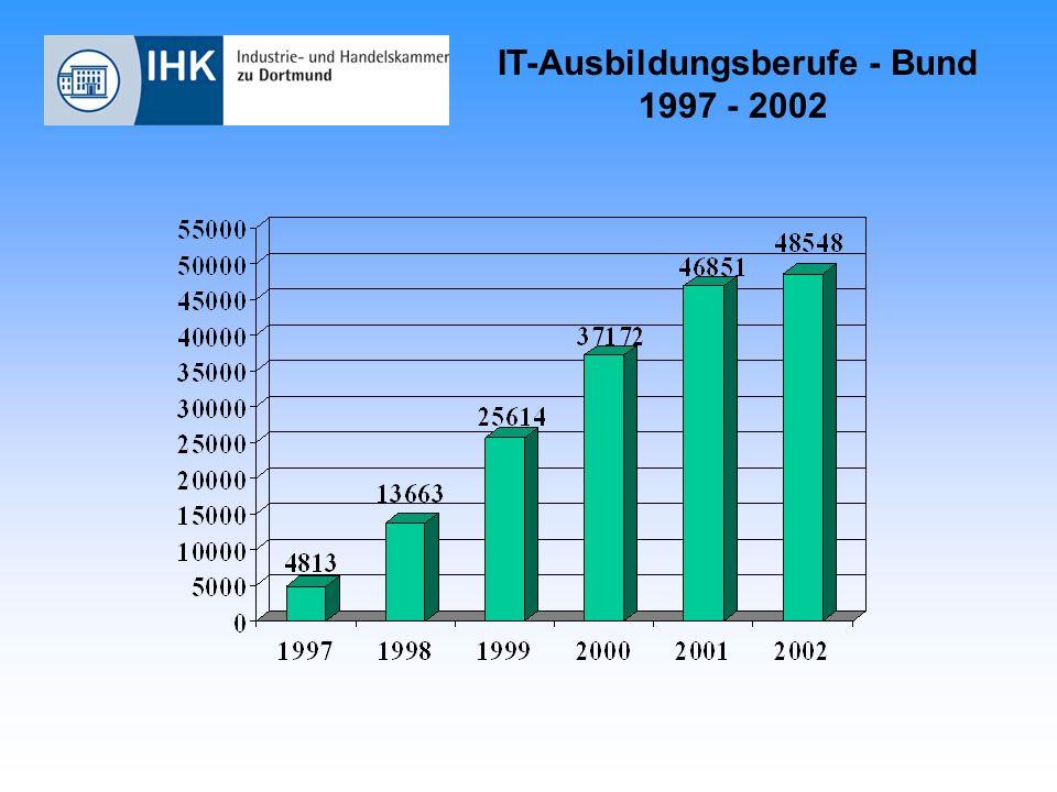 IT-Ausbildungsberufe - NRW 1997 - 2002 23,13 % 24,13 % 24,42 % 24,77 % 24,41 % 24,16 %