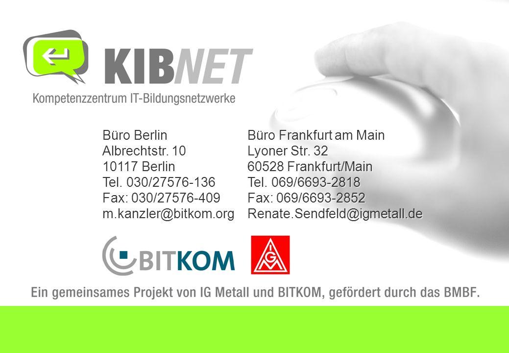 Büro Berlin Albrechtstr. 10 10117 Berlin Tel. 030/27576-136 Fax: 030/27576-409 m.kanzler@bitkom.org Büro Frankfurt am Main Lyoner Str. 32 60528 Frankf