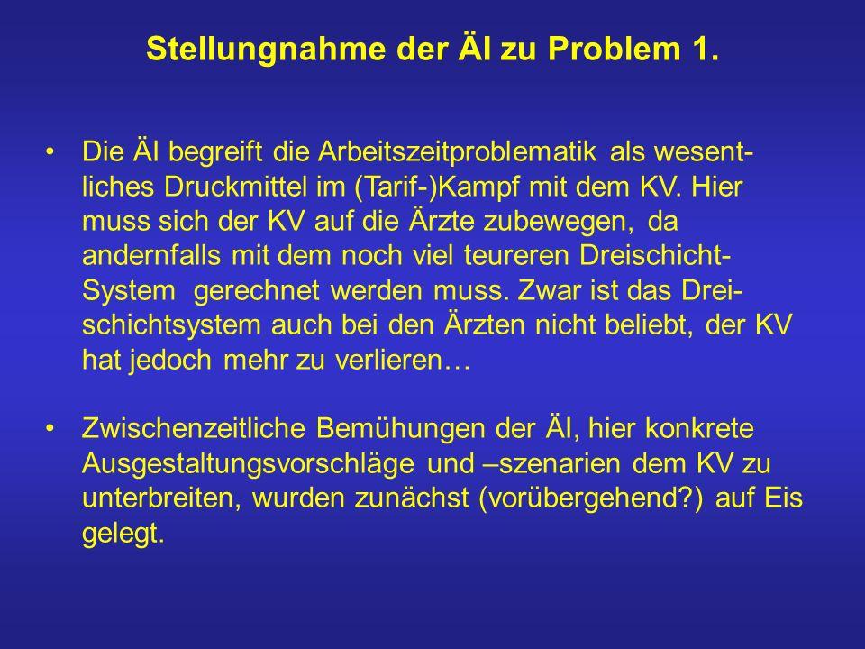 Stellungnahme der ÄI zu Problem 1.