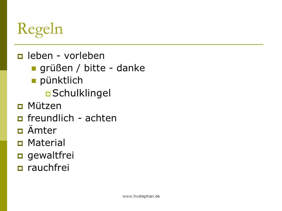 www.hvstephan.de Einbindung d.
