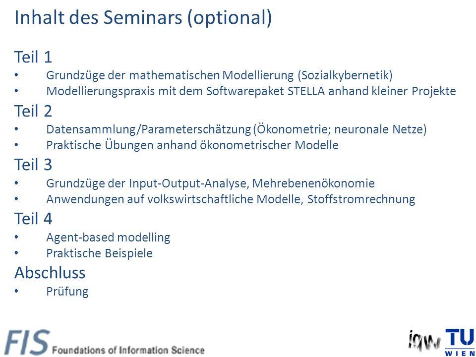 Combined Example: Input-Output and Econometric Model BMWF (Ed.) Mikroelektronik - Anwendungen, Verbreitung und Auswirkungen am Beispiel Österreichs, Wien 1981