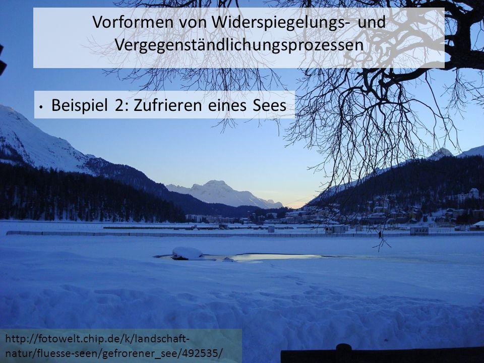 http://fotowelt.chip.de/k/landschaft- natur/fluesse-seen/gefrorener_see/492535/ Vorformen von Widerspiegelungs- und Vergegenständlichungsprozessen Beispiel 2: Zufrieren eines Sees