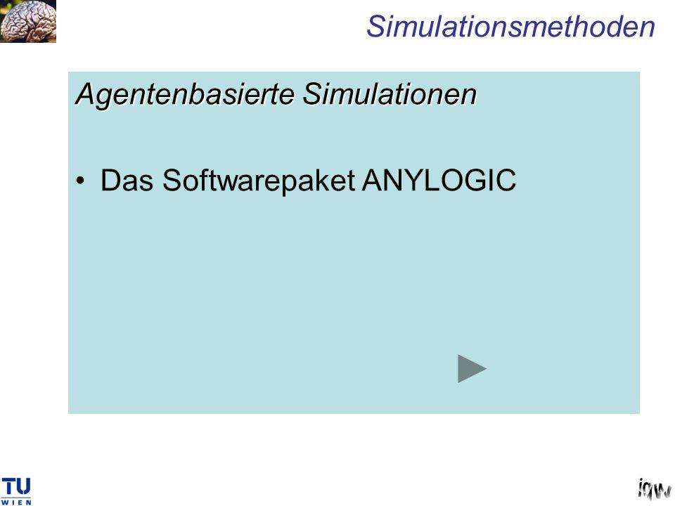Agentenbasierte Simulationen Das Softwarepaket ANYLOGIC Simulationsmethoden