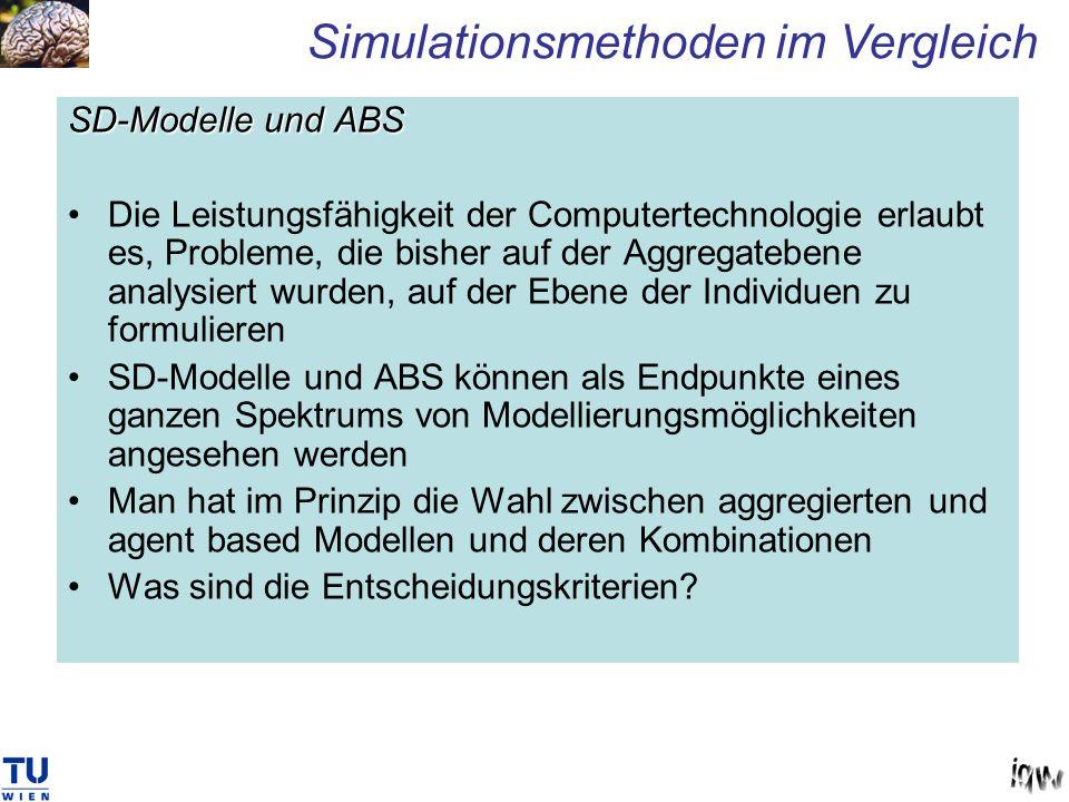SD-Modelle und ABS Die Leistungsfähigkeit der Computertechnologie erlaubt es, Probleme, die bisher auf der Aggregatebene analysiert wurden, auf der Eb