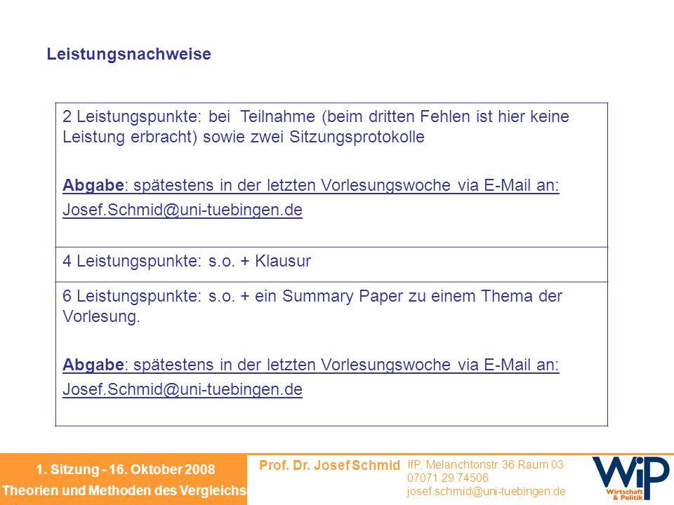 Prof.Dr. Josef Schmid IfP, Melanchtonstr.