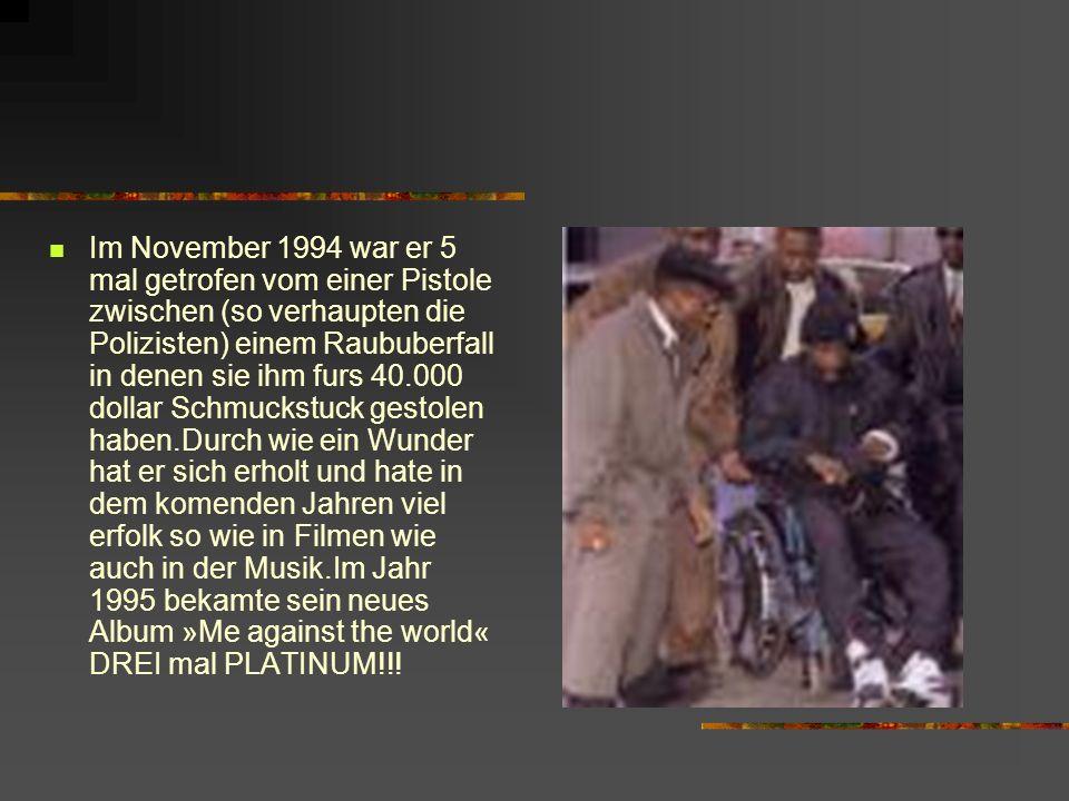 Im November 1994 war er 5 mal getrofen vom einer Pistole zwischen (so verhaupten die Polizisten) einem Raububerfall in denen sie ihm furs 40.000 dolla