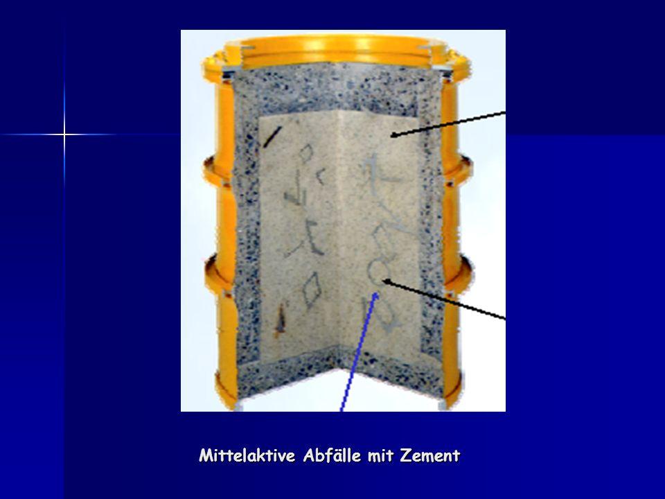 Mittelaktive Abfälle mit Zement