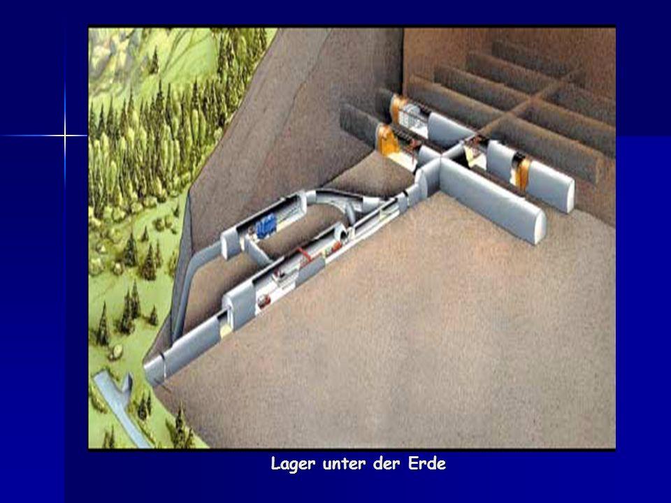 Lager unter der Erde
