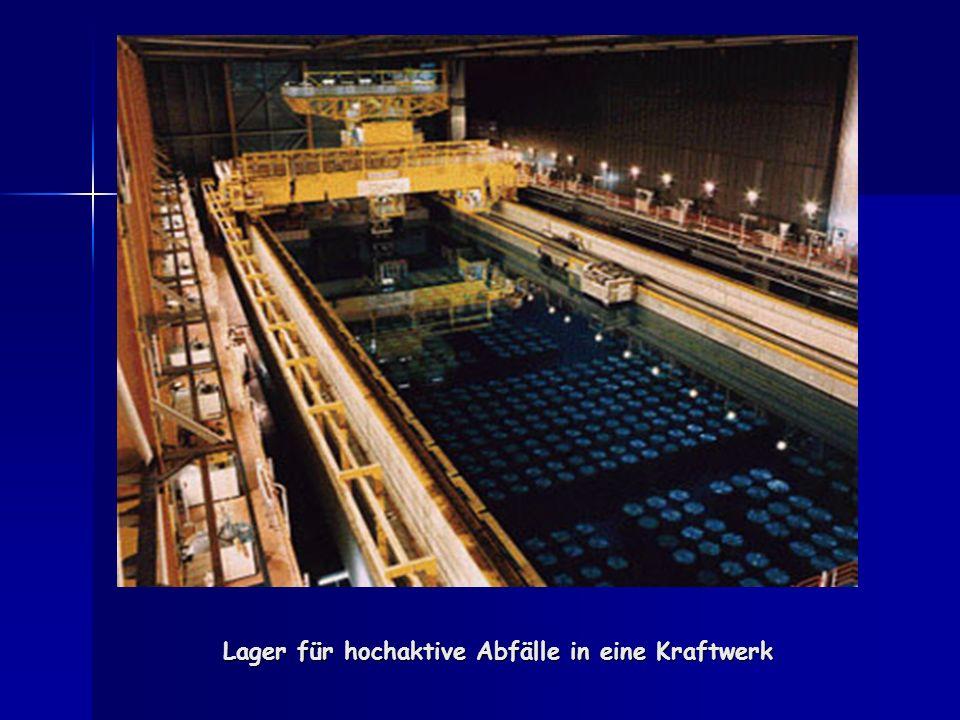 Lager für hochaktive Abfälle in eine Kraftwerk