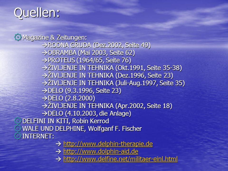 Quellen: ۞ Magazine & Zeitungen: RODNA GRUDA (Dez.2002, Seite 49) RODNA GRUDA (Dez.2002, Seite 49) OBRAMBA (Mai 2003, Seite 62) OBRAMBA (Mai 2003, Sei
