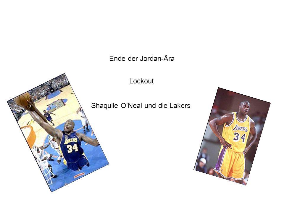 Ende der Jordan-Ära Lockout Shaquile ONeal und die Lakers