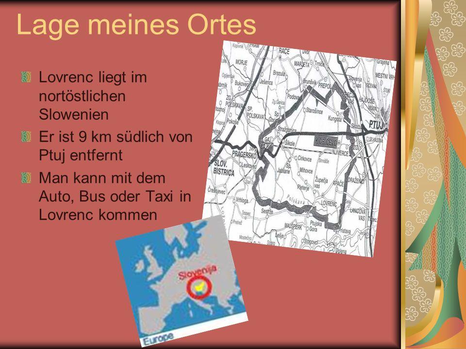 Geschichte von Lovrenc Lovrenc war im Jahr 1290 gegrundet Lovrenc hatte am anfang nur eine Schule, eine Kirche und eine Post Im Jahr 1860 bekam das Ort den Eisenbahnchof und mit dem Banchof war Lovrenc sehr zugänglich