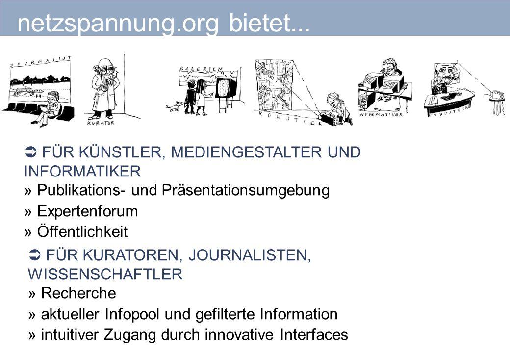 netzspannung.org bietet...