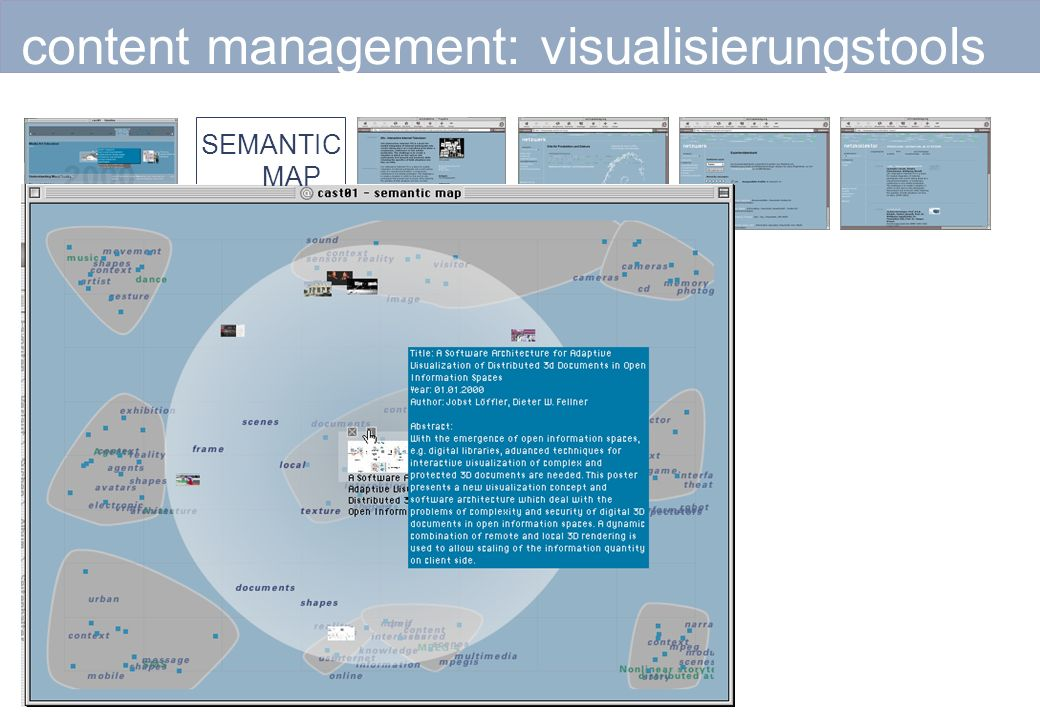 content management: visualisierungstools SEMANTIC MAP