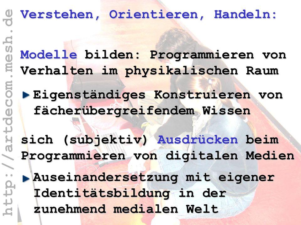 http://artdecom.mesh.de Verstehen, Orientieren, Handeln Verstehen, Orientieren, Handeln: Auseinandersetzung mit eigener Identitätsbildung in der zuneh