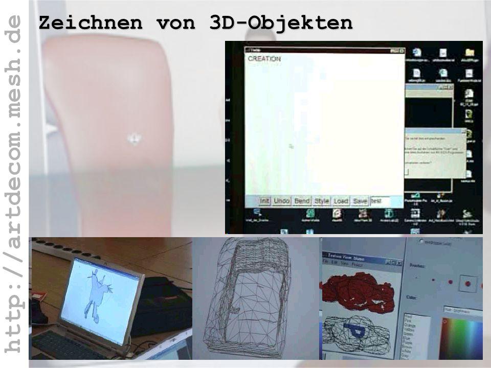 http://artdecom.mesh.de 3D-Zeichnen / Teddy Zeichnen von 3D-Objekten
