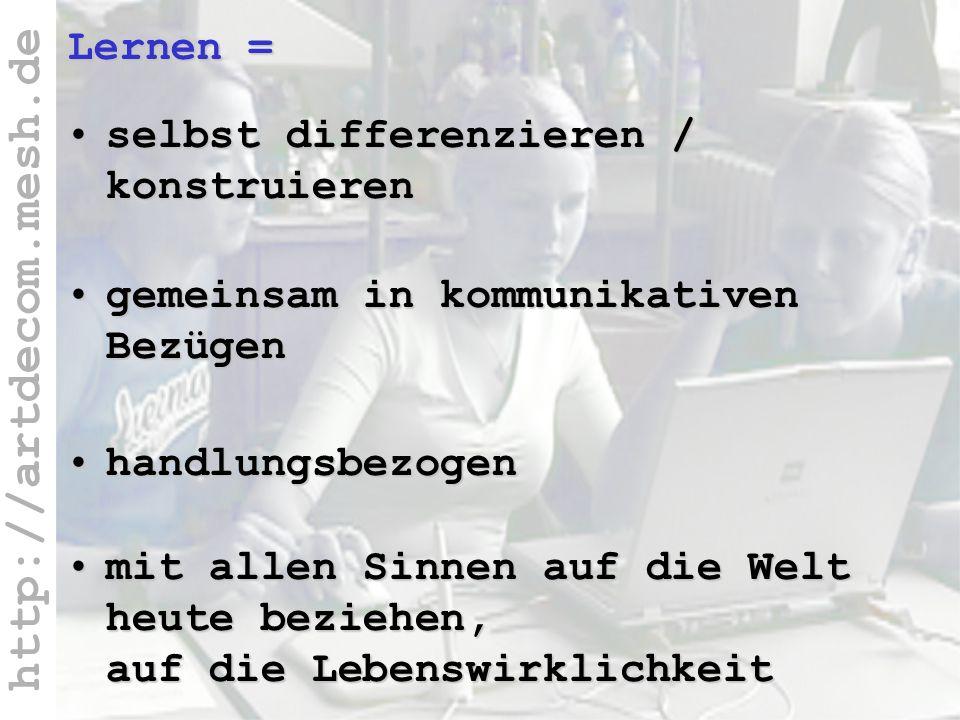 http://artdecom.mesh.de Fachübergreifende + werkstattor.
