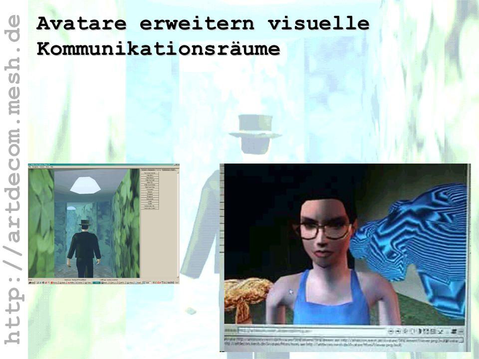 http://artdecom.mesh.de Java-Script Avatare erweitern visuelle Kommunikationsräume
