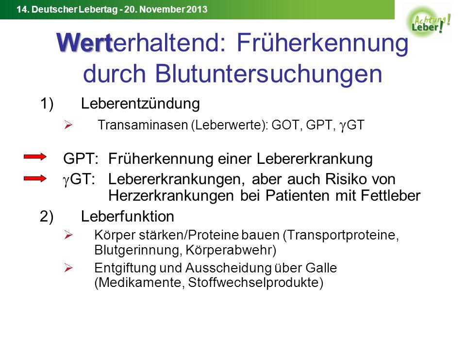 14.Deutscher Lebertag - 20. November 2013 Weitere Informationen Deutsche Leberhilfe e.V.