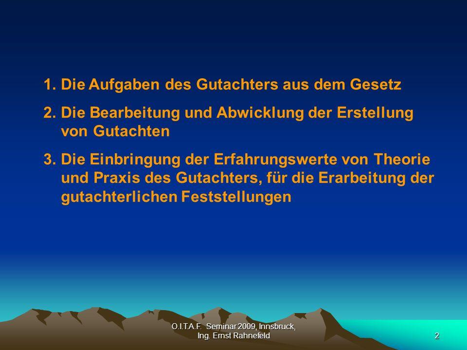 O.I.T.A.F. Seminar 2009, Innsbruck, Ing.