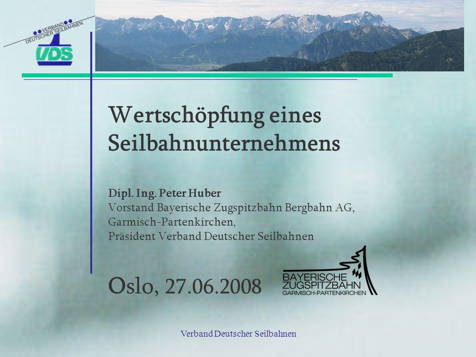 Wertschöpfung eines Seilbahnunternehmens Dipl.Ing.