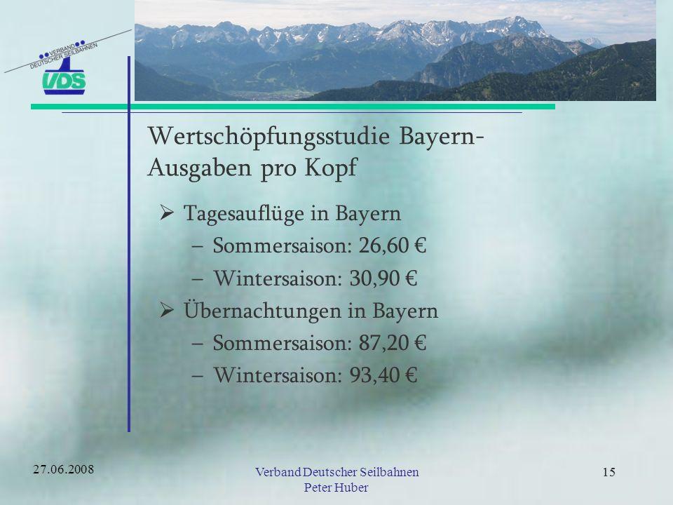 14 Wertschöpfungsstudie Bayern- Tourismusumsätze in Mio.