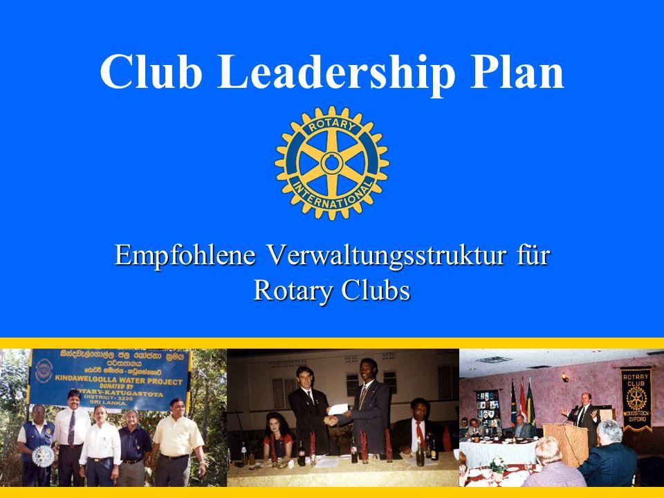 Club Leadership Plan Empfohlene Verwaltungsstruktur für Rotary Clubs