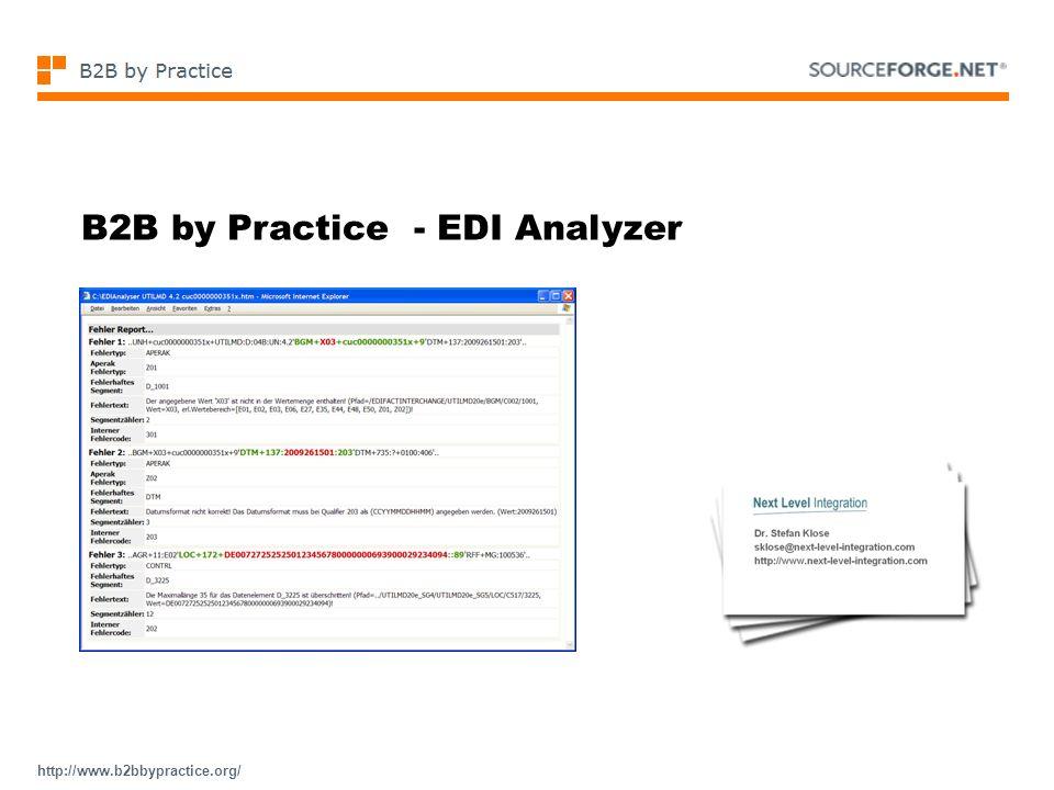 http://www.b2bbypractice.org/ B2B by Practice - EDI Analyzer