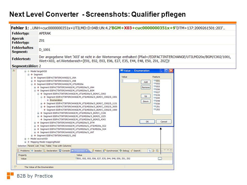 Next Level Converter - Screenshots: Qualifier pflegen