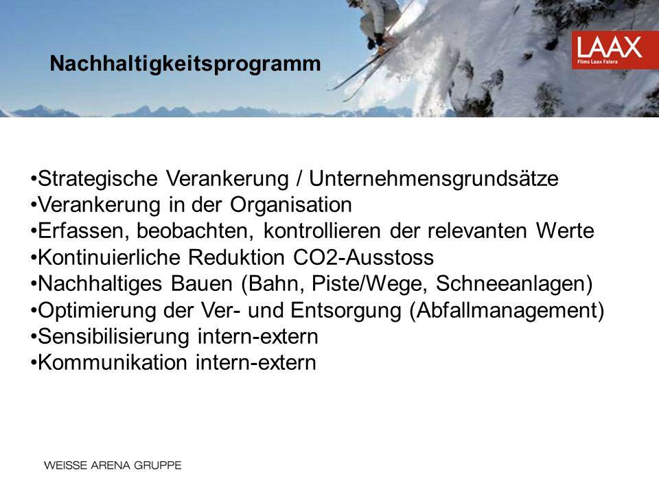 Strategische Verankerung / Unternehmensgrundsätze Verankerung in der Organisation Erfassen, beobachten, kontrollieren der relevanten Werte Kontinuierl