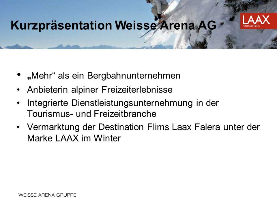 Mehr als ein Bergbahnunternehmen Anbieterin alpiner Freizeiterlebnisse Integrierte Dienstleistungsunternehmung in der Tourismus- und Freizeitbranche V