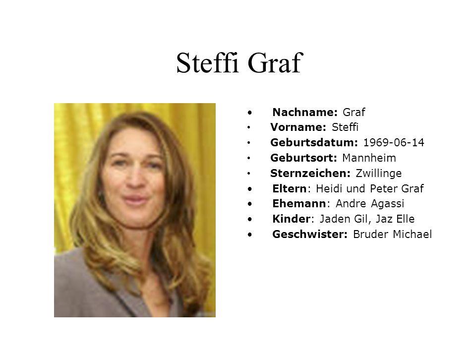Steffi Graf Die deutsche Tennisspielerin Steffi Graf gewann in einer beispiellosen Karriere 107 Titel, darunter 22 Grand-Slam-Turniere und siebenmal Wimbledon.