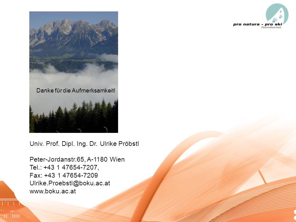 05.01.201429 Univ. Prof. Dipl. Ing. Dr. Ulrike Pröbstl Peter-Jordanstr.65, A-1180 Wien Tel.: +43 1 47654-7207, Fax: +43 1 47654-7209 Ulrike.Proebstl@b