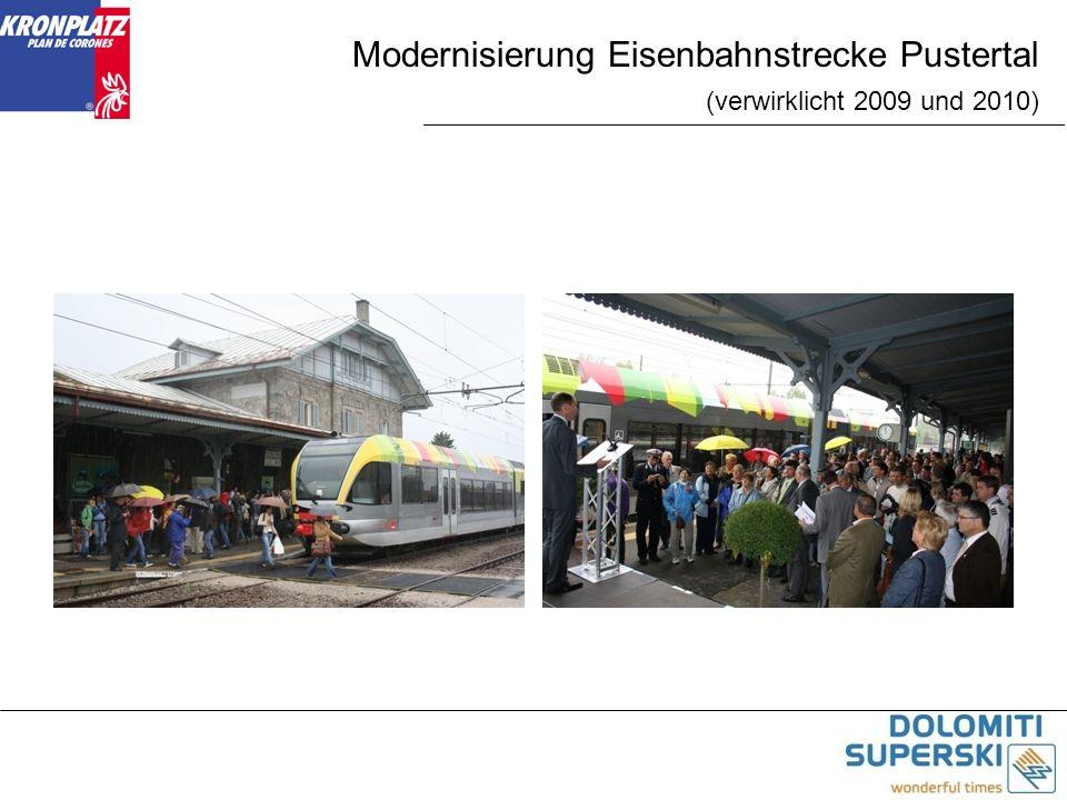 Modernisierung Eisenbahnstrecke Pustertal (verwirklicht 2009 und 2010)
